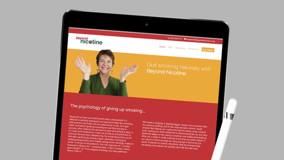 Beyond Nicotine website design